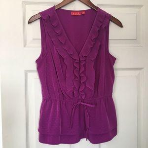 🥑 Elle sleeveless purple/purple polka dot 👚 M